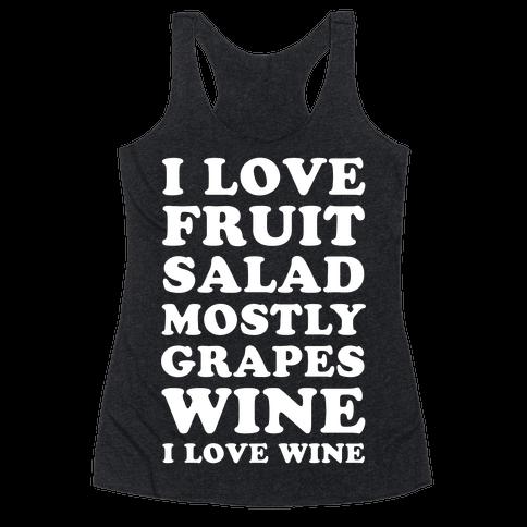Wine I Love Wine Racerback Tank Top