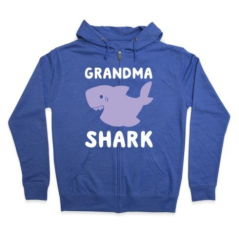 Grandma Shark (1 of 5 set) Zip Hoodie