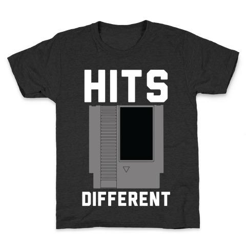Hits Different Game Cartridge Kids T-Shirt