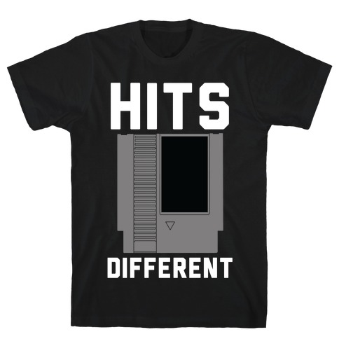 Hits Different Game Cartridge T-Shirt