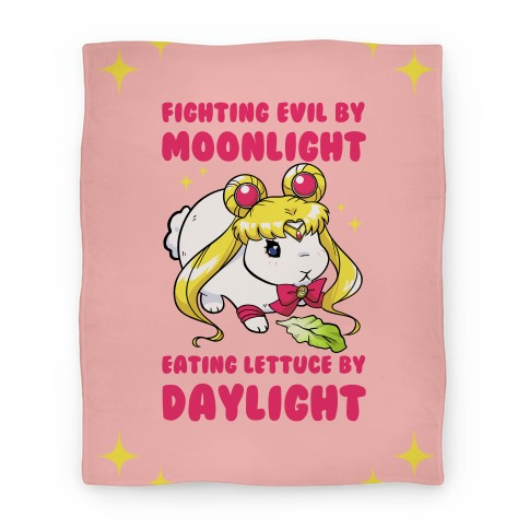 Fighting Evil By Moonlight Eating Lettuce By Daylight Blanket