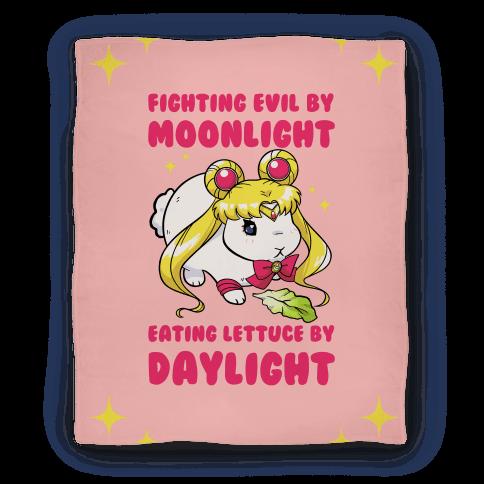 Fighting Evil By Moonlight Eating Lettuce By Daylight Blanket