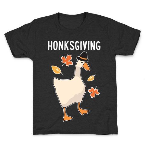 Happy Honksgiving Goose Kids T-Shirt