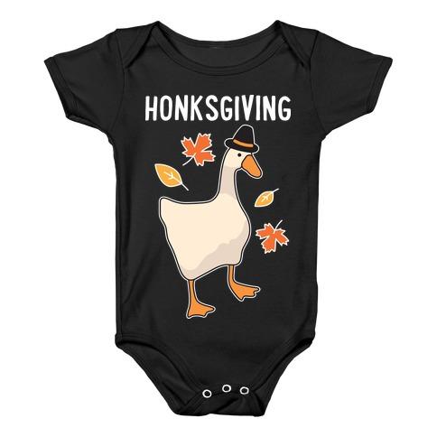Happy Honksgiving Goose Baby Onesy