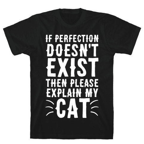 If Perfection Doesn't Exist Then Please Explain My Cat Mens T-Shirt