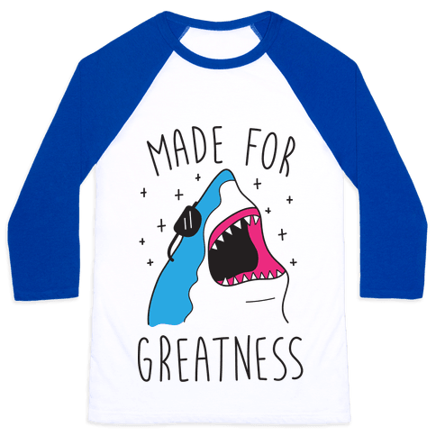 Made For Greatness (CMYK) Baseball Tee