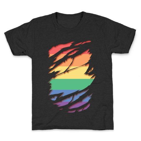 Ripped Shirt: Gay Pride Kids T-Shirt