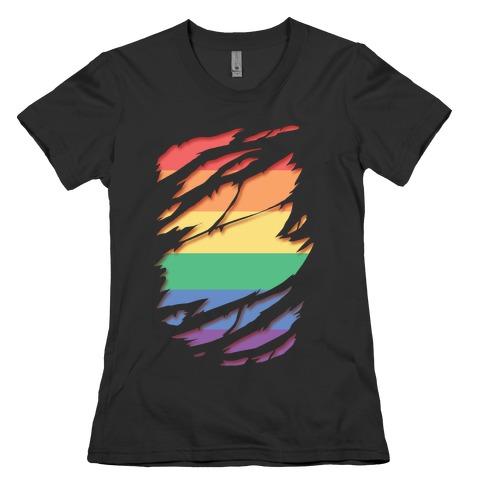 Ripped Shirt: Gay Pride Womens T-Shirt