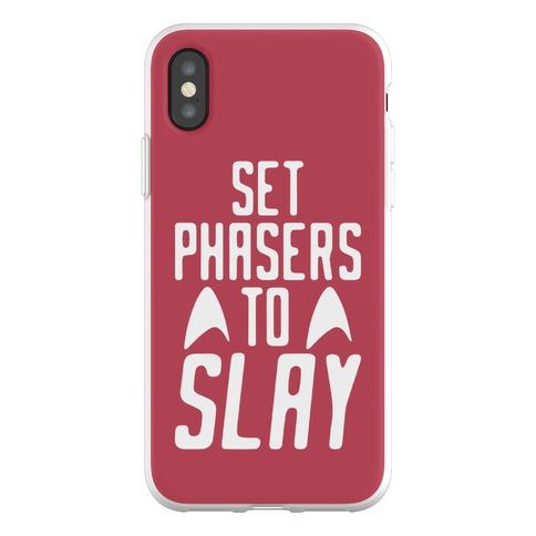 Set Phasers To Slay Parody Phone Flexi-Case