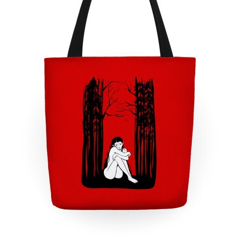 Forest Nymph (red) Tote