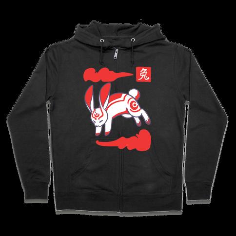 Rabbit - Chinese Zodiac Zip Hoodie