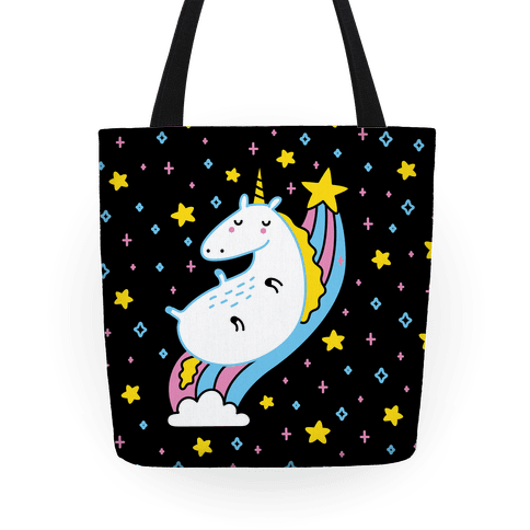 Unicorn On Rainbow Tote
