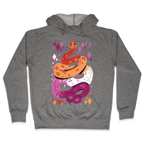 Pride Snakes: Lesbian Hooded Sweatshirt