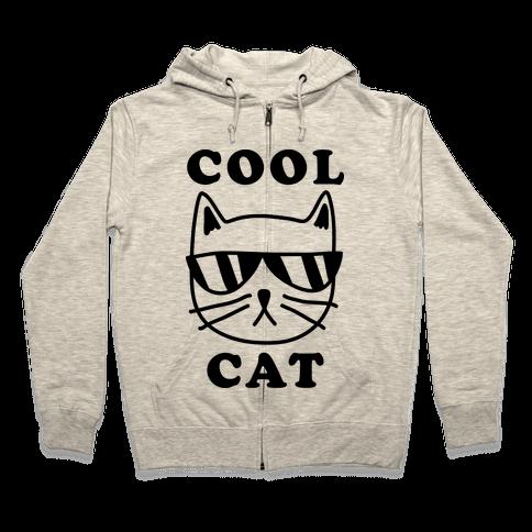 Cool Cat Zip Hoodie