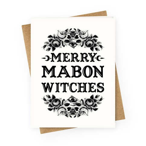 Merry Mabon Witches Greeting Card