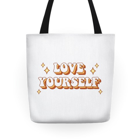 Love Yourself (groovy) Tote
