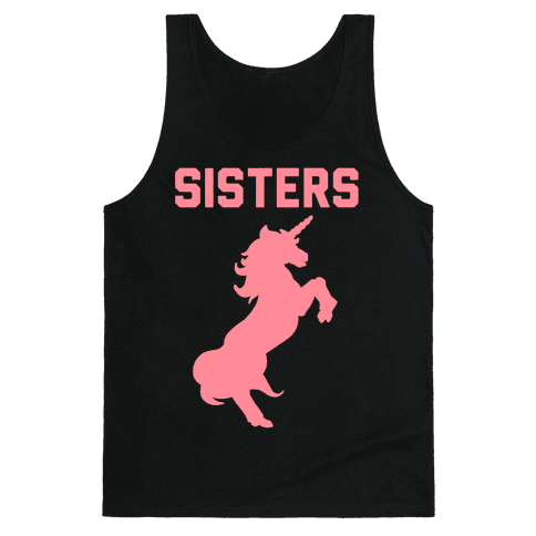 Unicorn Sisters Pair 2 Tank Top