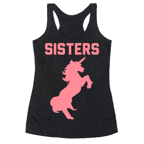 Unicorn Sisters Pair 2 Racerback Tank Top