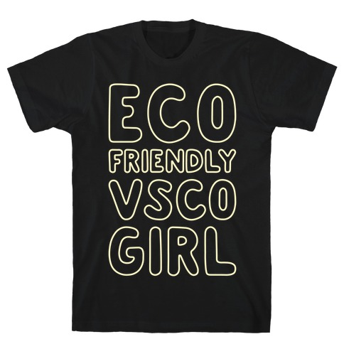Eco Friendly VSCO Girl White Print T-Shirt