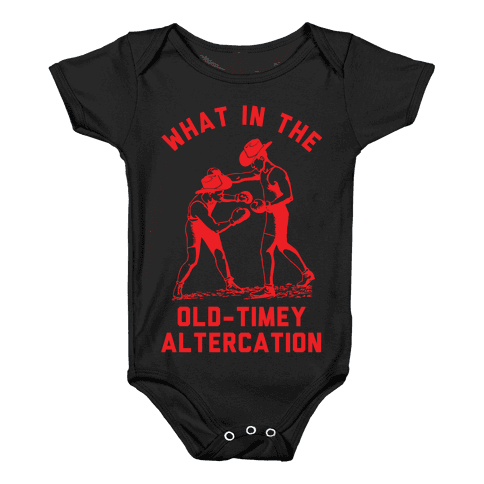 Old-Timey Altercation Baby Onesy