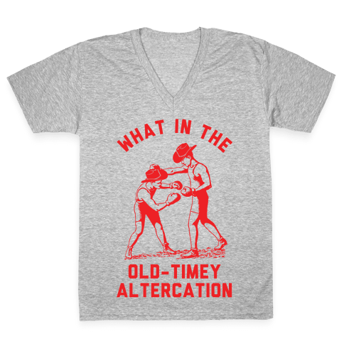 Old-Timey Altercation V-Neck Tee Shirt