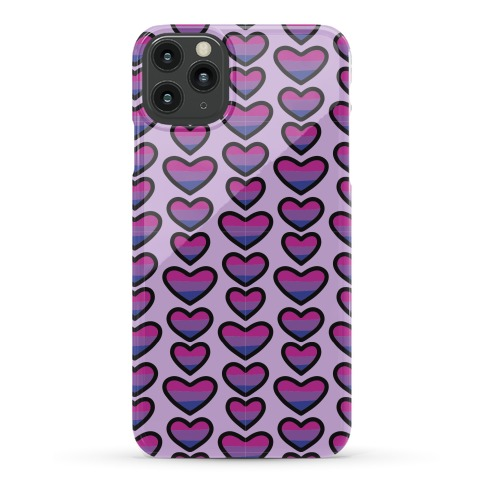 Bisexual Hearts Pattern Phone Case