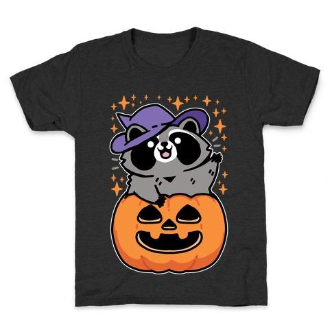 Cute Halloween Raccoon Kids T-Shirt