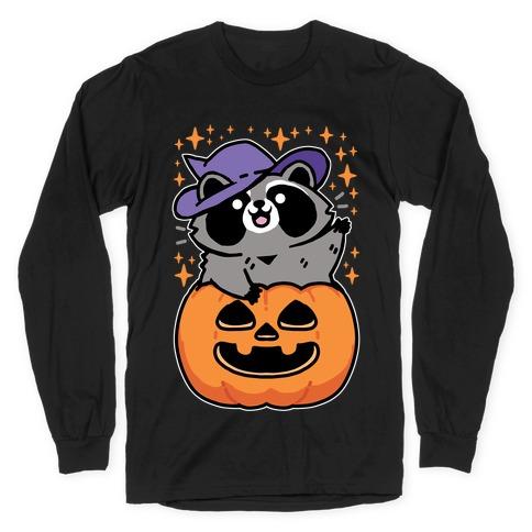 Cute Halloween Raccoon Long Sleeve T-Shirt