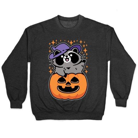 Cute Halloween Raccoon Pullover