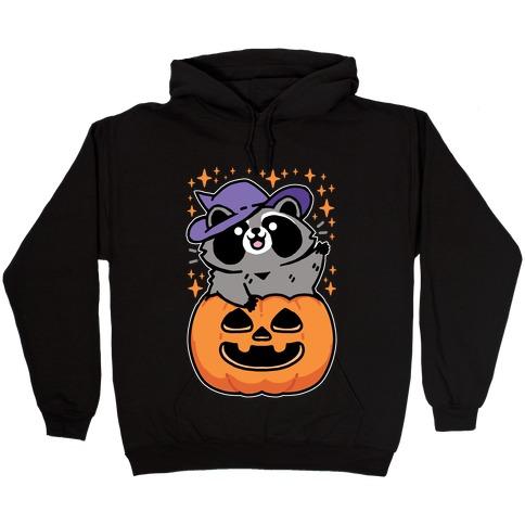 Cute Halloween Raccoon Hooded Sweatshirt