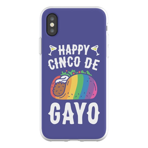Happy Cinco De Gayo Phone Flexi-Case