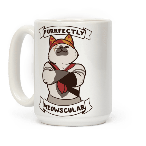 Purrfectly Meowscular  Coffee Mug