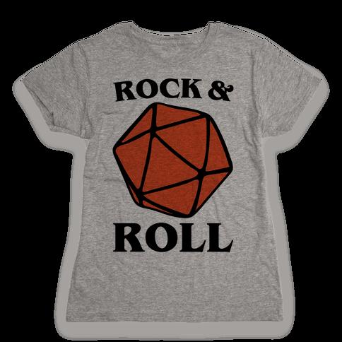 Rock and Roll D & D Parody Womens T-Shirt