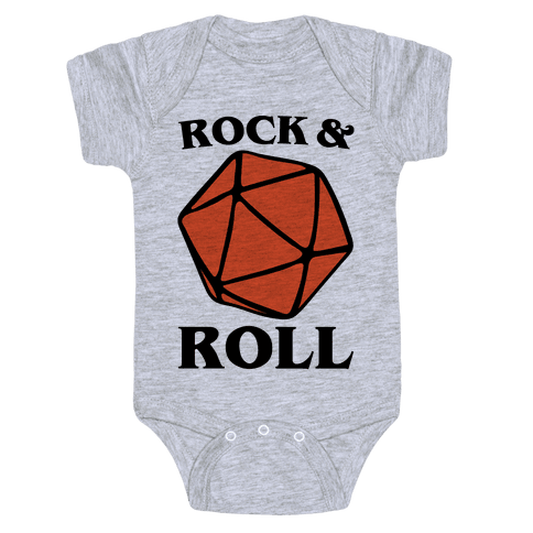 Rock and Roll D & D Parody Baby Onesy