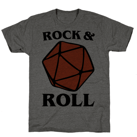 Rock and Roll D & D Parody Mens T-Shirt