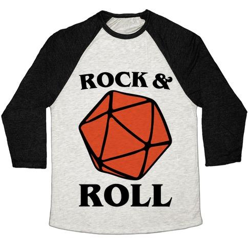 Rock and Roll D & D Parody Baseball Tee