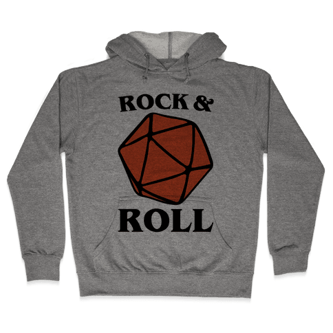 Rock and Roll D & D Parody Hooded Sweatshirt