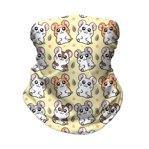 Cute Hamster Pattern Neck Gaiter