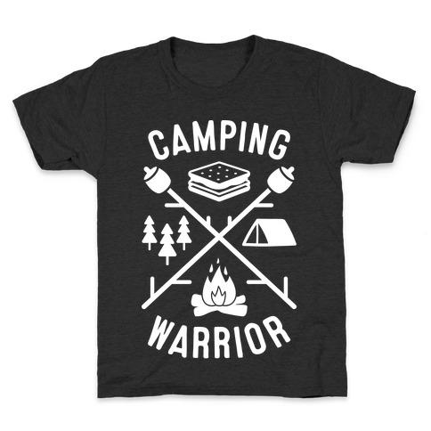 Camping Warrior (White) Kids T-Shirt
