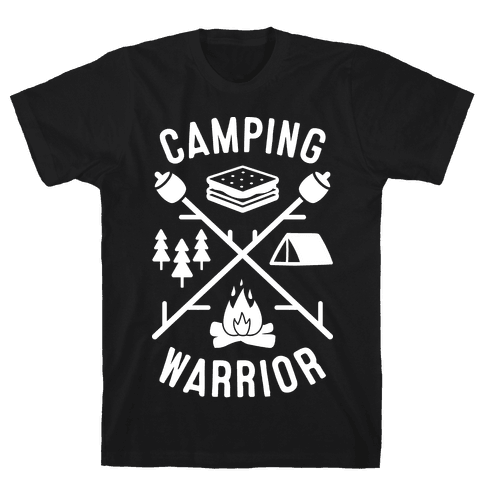 Camping Warrior (White) Mens T-Shirt