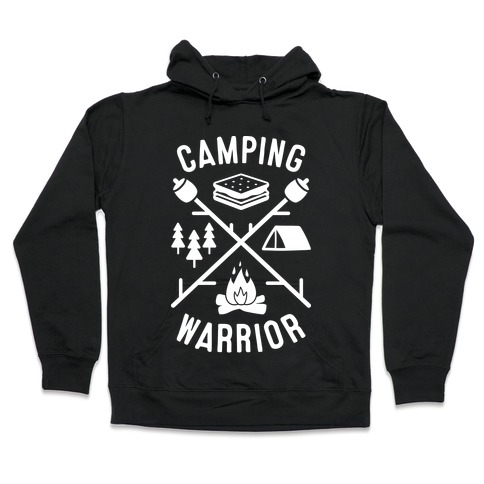 Camping Warrior (White) Hooded Sweatshirt