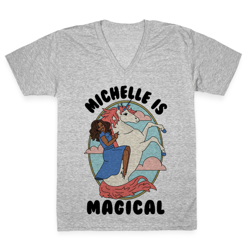 Michelle Is Magical V-Neck Tee Shirt