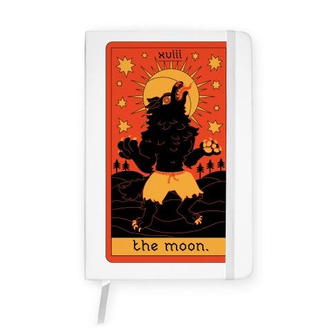 The Moon Werewolf Tarot Notebook