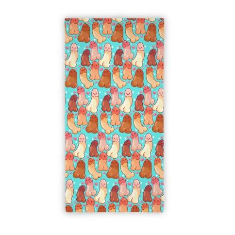 Kawaii Penises Pattern Beach Towel
