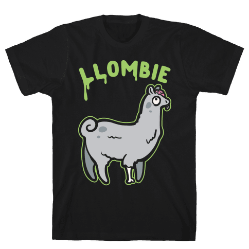 Llombie White Print Mens T-Shirt