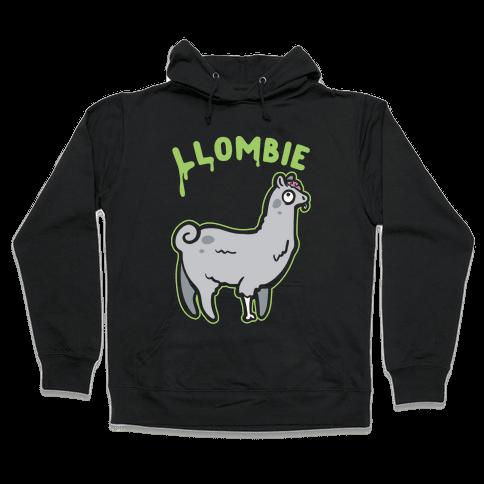 Llombie White Print Hooded Sweatshirt