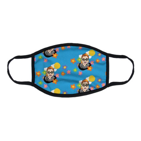 RBG Flower Power Pattern Flat Face Mask