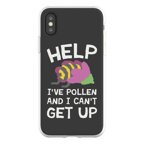 Help I've Pollen And I Can't Get Up Bee Phone Flexi-Case