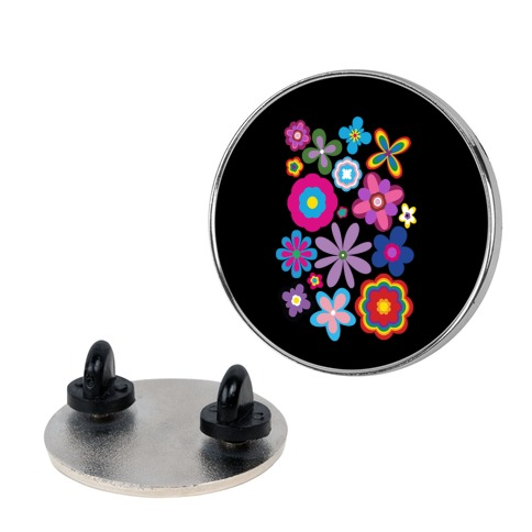 Hippie Pride Flower Pattern Pin