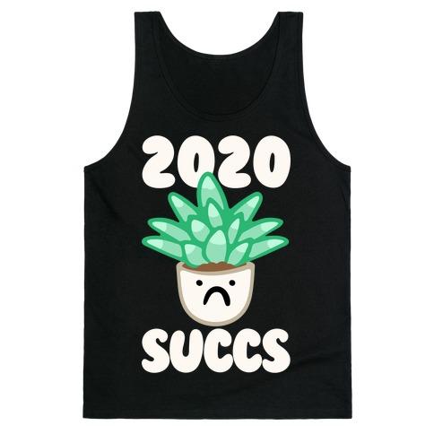 2020 Succs White Print Tank Top